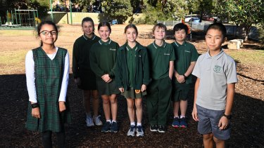 Girls at Meadowbank Public can choose dresses or pants, but the dresses are more restrictive.