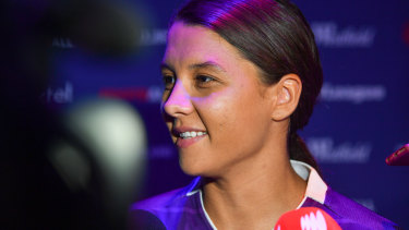 Home sweet home: Sam Kerr wasn't overly fussed by offers to play for Chelsea and Barcelona.