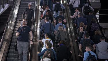 The escalators handle a lot of traffic.