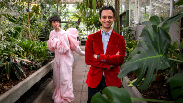 Fringe director Simon Abrahams with Fringe artist Nick Barlow, whose show Conservatory will be performed inside an historic conservatory in Malvern East.