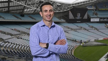 Gerard Sutton after being announced as the referee for the 2020 NRL grand final on Tuesday.