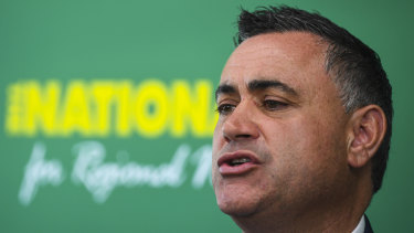 Deputy Premier John Barilaro (pictured) had his 2019 election campaign run by Jeff McCormack.