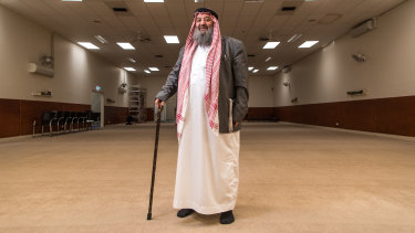 Sheik Mohammed Omran at the Hume Islamic Youth Centre on Thursday.