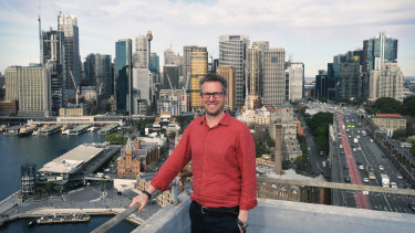 Daivd Hammon, director of Hammons Holdings, which operates BridgeClimb, supports a holiday voucher system to encourage visitors to Sydney's CBD.