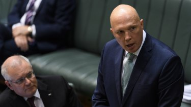 Peter Dutton is the second Morrison government minister to launch defamation proceedings this year.