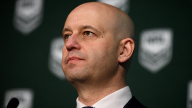 Line in the sand: Todd Greenberg says the NRL now has a zero-tolerance policy on violence against women.