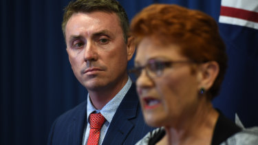One Nation Senator Pauline Hanson launched a furious defence of her chief of staff, James Ashby, at a press conference on Thursday.