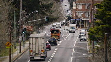 The upgrade of the Great Western Highway is intended to improve safety and remove congestion from Blue Mountains towns such as Blackheath.