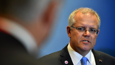 """The test for us now is to stand up for the economic values we believe in,"" Prime Minister Scott Morrison."