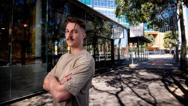 Connor Cunliffe, owner of Barlog Espresso in Docklands.