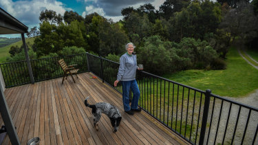 Carol Barkerand her husband Rob (now deceased) bought a property near Foster 30 years ago with the idea they would revegetate it and put a covenant on it so it was protected forever. He died last year but she still lives there, among trees she planted 20 years ago.