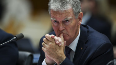 Director-General of the Australian Security Intelligence Organisation (ASIO) Duncan Lewis speaks during Senate Estimates at Parliament House.