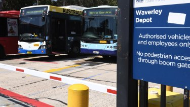 Drivers and other staff at depots such as Waverley in Sydney's eastern suburbs were told services will be privatised by 2021.