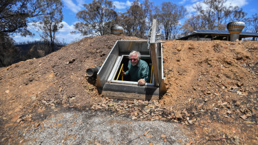 The bunker in Buchan at Donald Graham's property.