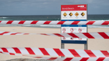 The shutdown at iconic Bondi Beach ... the prudent approach is already bearing fruit for the economy.