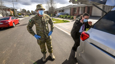 Defence force personnel have helped to bolster testing sites and door-to-door checks in Victoria.