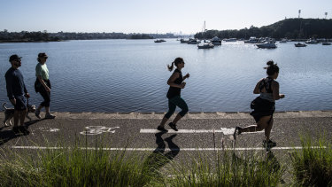 Councils have asked people to reduce their use of the Bay Run in Sydney's inner west.