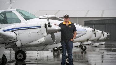 Peninsula Aero Club president Jack Vevers