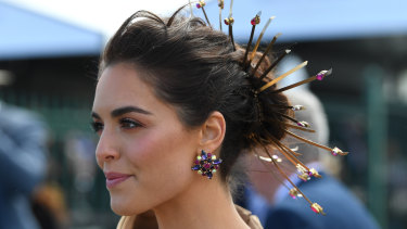 Actress Olympia Valance at the Caulfield Cup