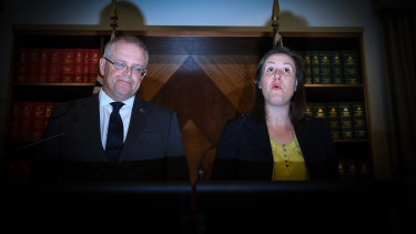 Treasurer Scott Morrison and Minister for Revenue Kelly O'Dwyer