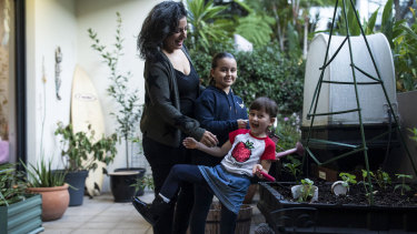 Sara Joseph, from Sydney, says naming her daughters Indigo Tyga (left) and Rani Leilla Roses, has brought various challenges in addition to joy.
