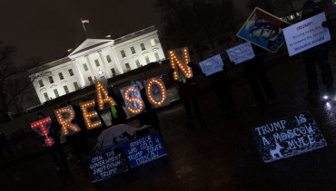 Protesters outside the White House on Saturday.