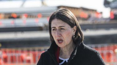 """Don't relax"", Premier Gladys Berejiklian told NSW communities in Sydney on Tuesday."