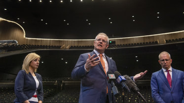 Prime Minister Scott Morrison has rejected criticism of the ABC's funding levels.