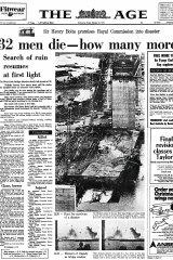 West Gate Bridge collapse, The Age, 1970.