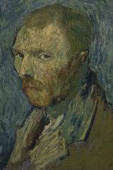 An 1889 self-portrait of Vincent van Gogh.