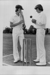Former East Hills Boys High students Steve and Mark Waugh, both aged 15 in 1981.
