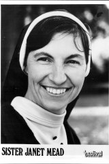 A 1975 publicity still of Sister Janet Mead.