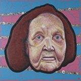 Blak Douglas' portrait of Esme Timbery, White shells, Black Heart.