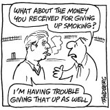 """""""I'm having trouble giving that up as well.""""  From the Age, February 25, 2000"""