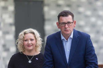 Attorney-General Jill Hennessy, pictured with Premier Daniel Andrews, has sought advice from her department on the issue.