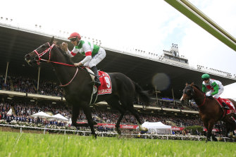 Japanese-trained Lys Gracieux wins last year's Cox Plate.