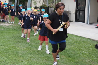 First Nations cultural educator Aunty Phyllis Marsh has seen a transformation in the way the students connect to ancient wisdom.