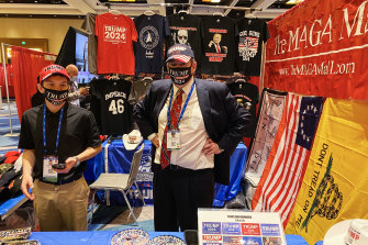 Ronald Solomon, at the Maga Mall, says the Republican Party's 2024 presidential nomination is Trump's for the taking.