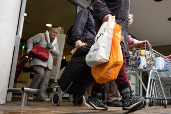 Supermarkets have been the scene of spitting attacks.