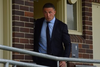 Sam Burgess at Moss Vale Local Court on Monday