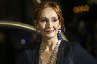 Lightning rod: JK Rowling's pronouncements on trans issues put her in the spotlight repeatedly throughout the year.