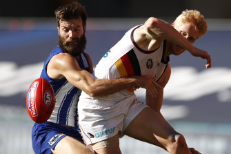 Battling: North Melbourne and Adelaide have struggled to fire in 2020.