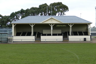 The old wooden grandstand at Longford.