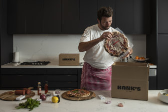 Former pilot Nick Allen now makes pizzas for a living with his Hanks Hot Box business.