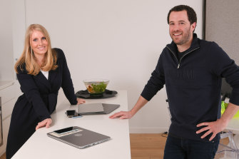 Maggie and Jonathon Stiebel have learnt a lot about each other while working from home.
