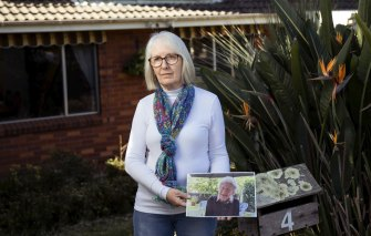 Judy Christian has been unable to see her mother, Barbara Olliff, who lives in an aged care facility in the same suburb, since the lockdown began.