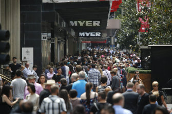 Karen Millen had eight concession stores in Myer and David Jones stores across the country.