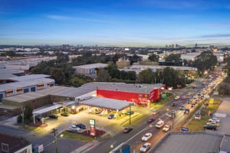 The sites include a 7-Eleven leased fuel site at Clyde on Sydney's Parramatta Road.