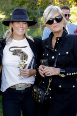 Samantha Armytage and style blogger Melissa Penfold giving their own interpretation on the party theme.
