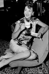 Gypsy Rose Lee at a press conference in Sydney in late September, 1954.